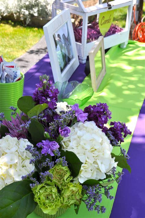 purple wedding flowers purple green wedding garden