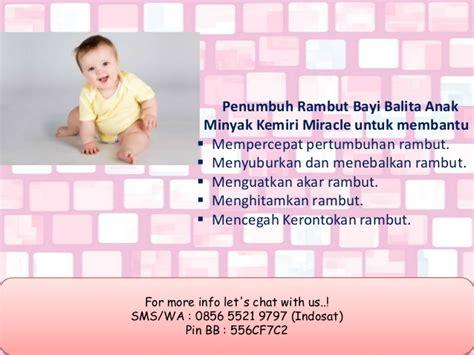 Cd Anak Bayi Kepiting Bon Bon minyak kemiri yang bagus untuk rambut bayi 0856 5521 9797