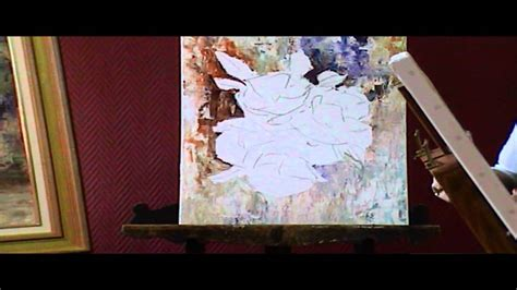 peinture de fleurs moderne d 233 monstration de fleurs r 233 alis 233 es 224 la peinture 224 l huile et au couteau par catherine victoire