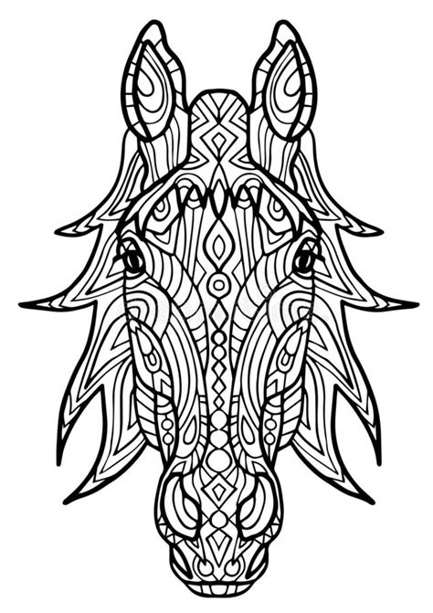 Horse. Coloring book page stock vector. Illustration of hand - 61519575