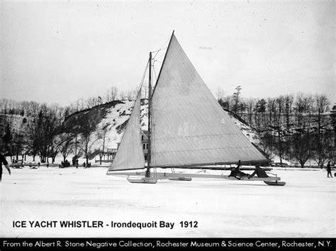 iceboating  irondequoit bay aquasno skiers
