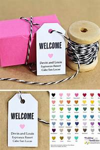 Welcome bags are a must for destination weddings its a for Small tags for wedding favors