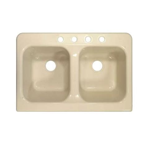 home depot kitchen sinks top mount lyons industries apron top mount acrylic 34 in 4 50