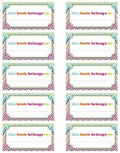 iheart organizing our new bookplates a freebie for you With avery coupon template