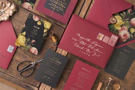 newest  vintage botanical wedding inviations