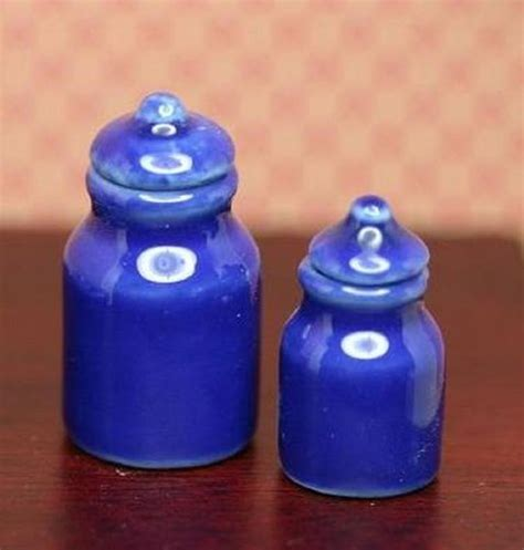 Blue Kitchen Canister Sets by Kitchen Blue Canister Set Dollhouses And More