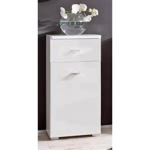 commode barolo meuble de salle de bain 224 1 porte 1 tiroir couleur blanc laqu 233 e achat vente