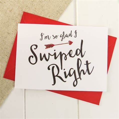 'swiped Right' Online Dating Valentine's Card By Luna ...