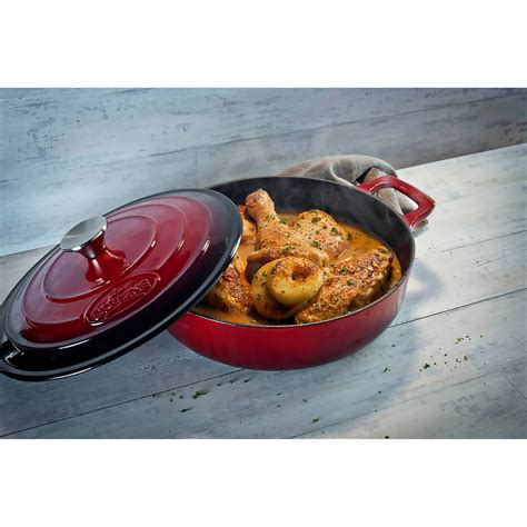 la cuisine pro 5pc enameled cast iron cookware set in