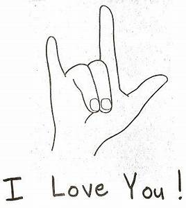 """""""I Love You"""" Sign Language Card Craft   Maplewood Library"""