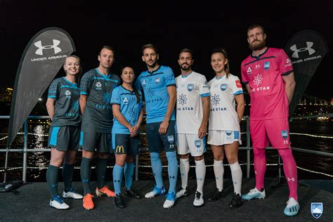 sydney fc unveil     armour playing kits