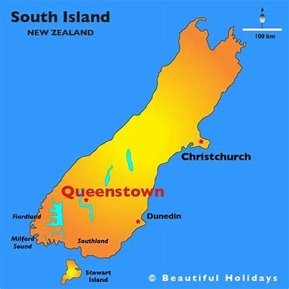 Queenstown Map Zealand Travelsfinders Toursmaps
