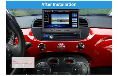 fiat 500 radio well crafted 1din car radio fascia for 2007 fiat 500 dash mount kit adapter audio player dvd frame