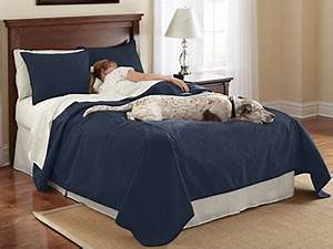 Dog proof bedding reversible dog proof coverlet and for Dog proof comforter