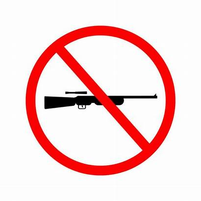 Sign Weapons Allowed Vector Government Limited Symbol