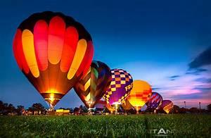 Hot Air Balloon Night Lights   Flickr - Photo Sharing!