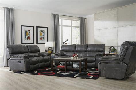 Loveseat Console by Catnapper Camden Power Lay Flat Reclining Sofa Set Steel
