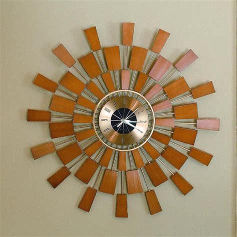 kenneth wingard large sunburst wall clock  steel ob