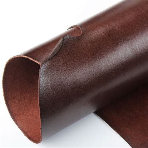 Thick Cowhide Leather by Wuta Brown Veg Tanned Cowhide Leather 2mm Thick Drum Dyed