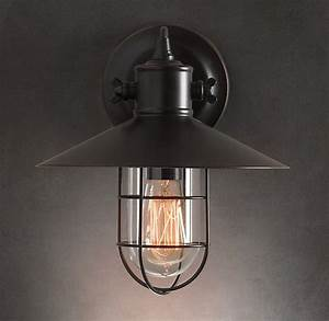 Restoration hardware harbor sconce there s no place like