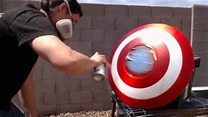 Captain Shield America Electromagnet Put There Suit