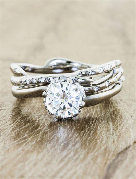 novella diamond unique nature inspired engagement ring