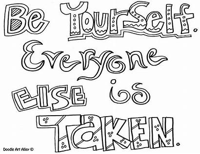 Coloring Pages Quotes Quote Courage Doodle Yourself
