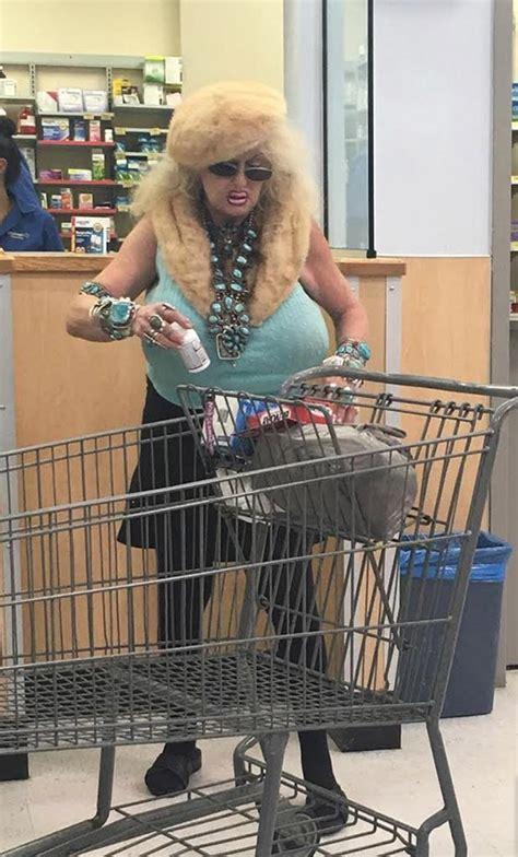 dolly parton shopping  walmart fogey fashion fail