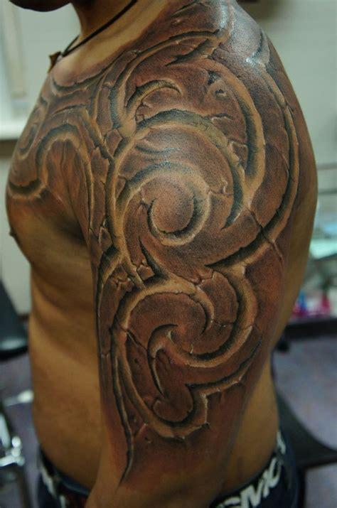 stone triballl  strangeris tattoo black white