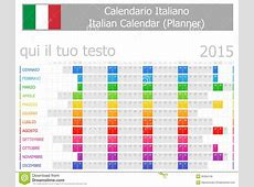 2015 Italian Planner Calendar With Horizontal Months
