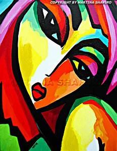 """Modern Fauve Girl"" original contemporary acrylic painting ..."