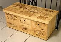 used wine crates Small cabinet furniture made with used wine crates - by ...