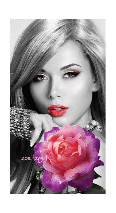 Splash Colorsplash Misma Tiene Mujer Portrait Flower