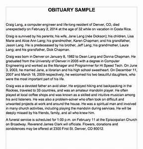 25 obituary templates and samples template lab With writing an obituary template