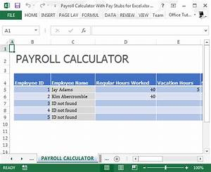Payroll calculator with pay stubs for excel for Paystub calculator free