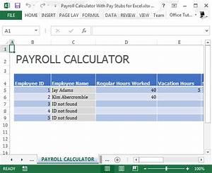 Pay stub template with auto calculator autos weblog for Free check stub calculator