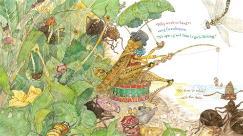 the grasshopper and the ants interior jerry pinkney