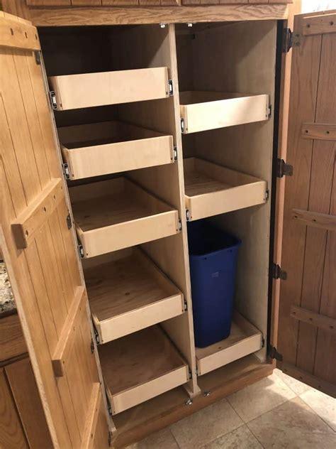 diy pull  pantry shelves incredible  part guide