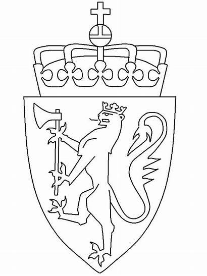 Arms Coat Coloring Norway Pages Printable Countries