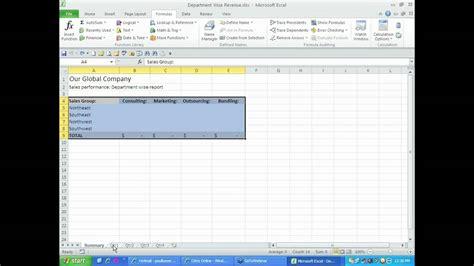pivot table across worksheets 2010 microsoft office 2010