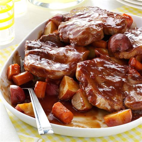 pork barbecued chop supper recipes recipe sunday slow cooker cooked chops taste dinners cooking tasteofhome