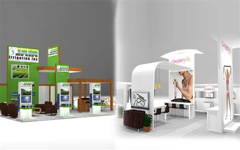 landing custom towers display booth image design and
