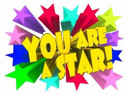 Star Stars Text Vivid Slogan Golden Illustration