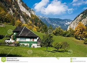 Mountain, Village, In, Autumn, Royalty, Free, Stock, Image