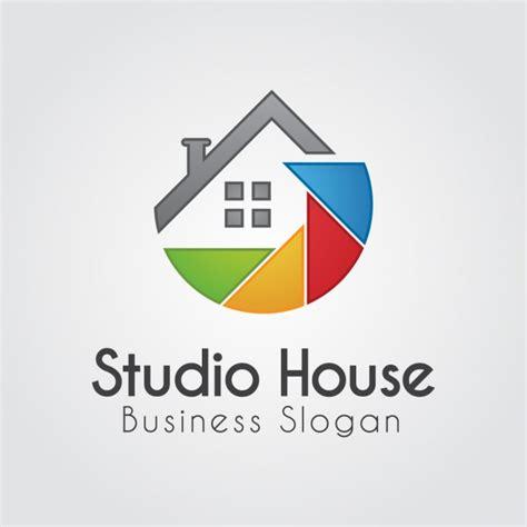 logo casa logo colorido con casa abstracta descargar vectores gratis
