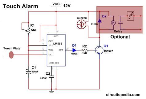 Circuit Diagram Of Burglar Alarm Using Ic 555