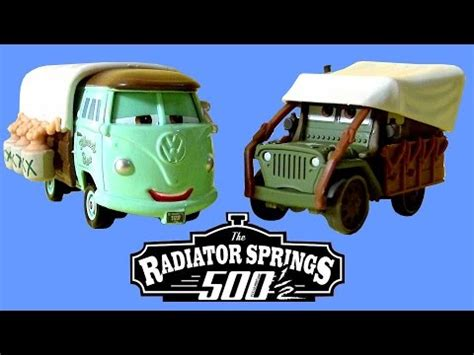 cars sarge and fillmore cars stanley days fillmore sarge radiator springs 500 1
