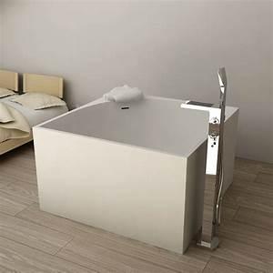 Robinet Baignoire Ilot : baignoire ilot carre 01 tout sur la baignoire ~ Nature-et-papiers.com Idées de Décoration