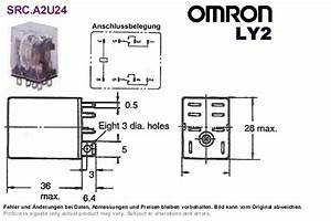 Power Relay 24vdc Dpdt 250vac 10a Omron Ly2