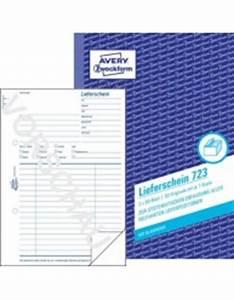 Lieferschein Blanko : lieferschein din a5 723 avery zweckform ~ Themetempest.com Abrechnung